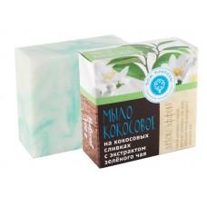 """Мыло на кокосовых сливках с экстрактом зеленого чая """"Детокс - эффект"""""""